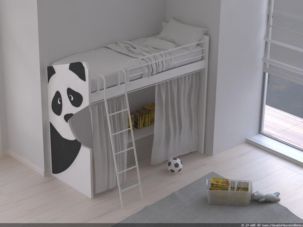 Letto singolo a soppalco Panda